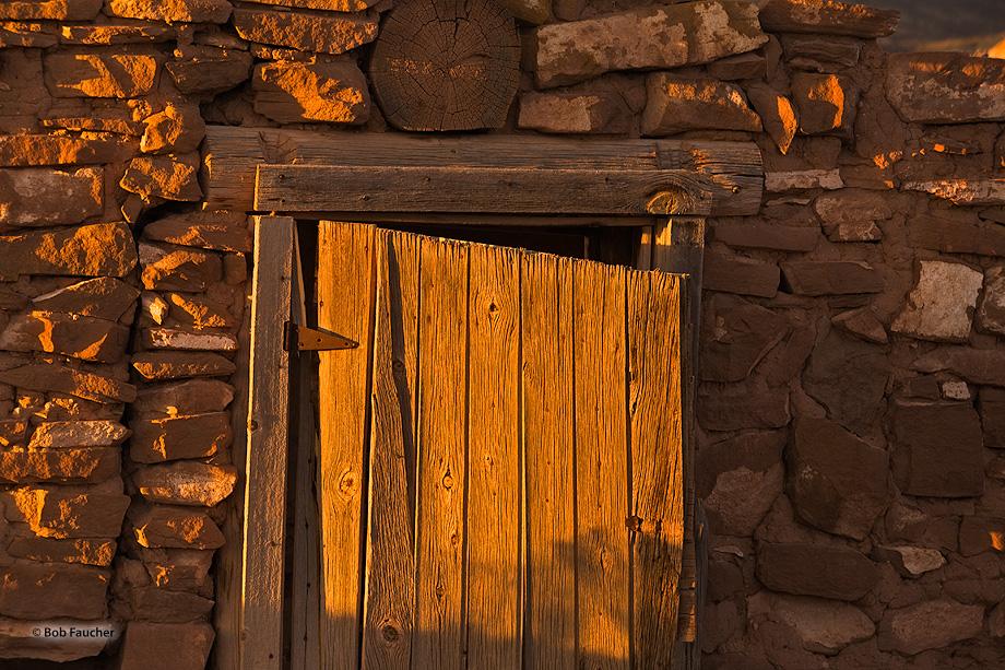New Mexico,Ghost Ranch,derelict building,door, photo