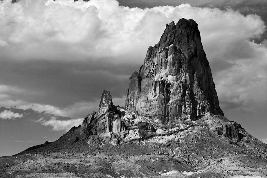 Agathla Peak,clouds,El Capitan Valley,volcanic plug,diatreme,minette, photo
