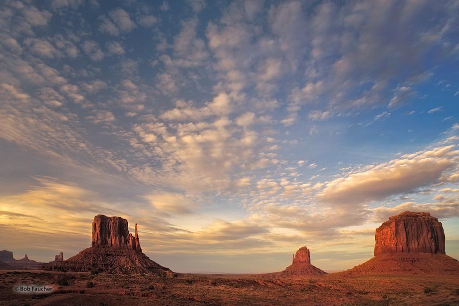 Mitten Buttes,Merrick Butte,clouds,evening, photo
