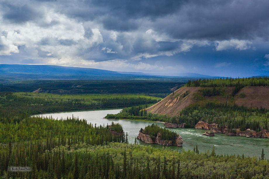 Five Finger Rapids,Yukon River,Klondike Hiway,Yukon,Canada, photo