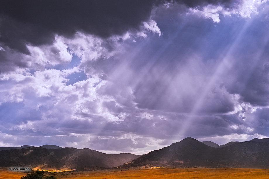 Rocky Mountains,sun rays, photo