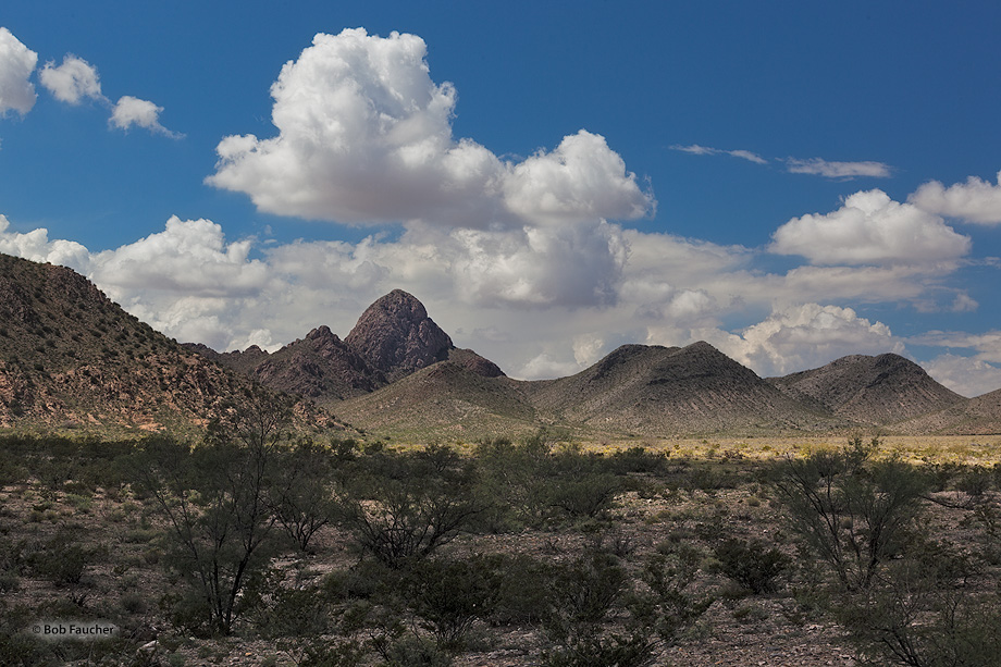 San Augustin Mountains,granite,desert,clouds, photo