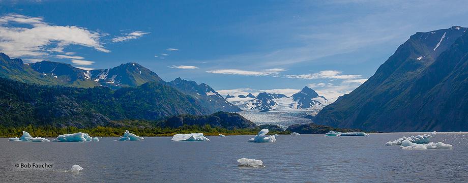 Grewingk Glacier,Lake,Kenai Peninsula,Alaska, photo
