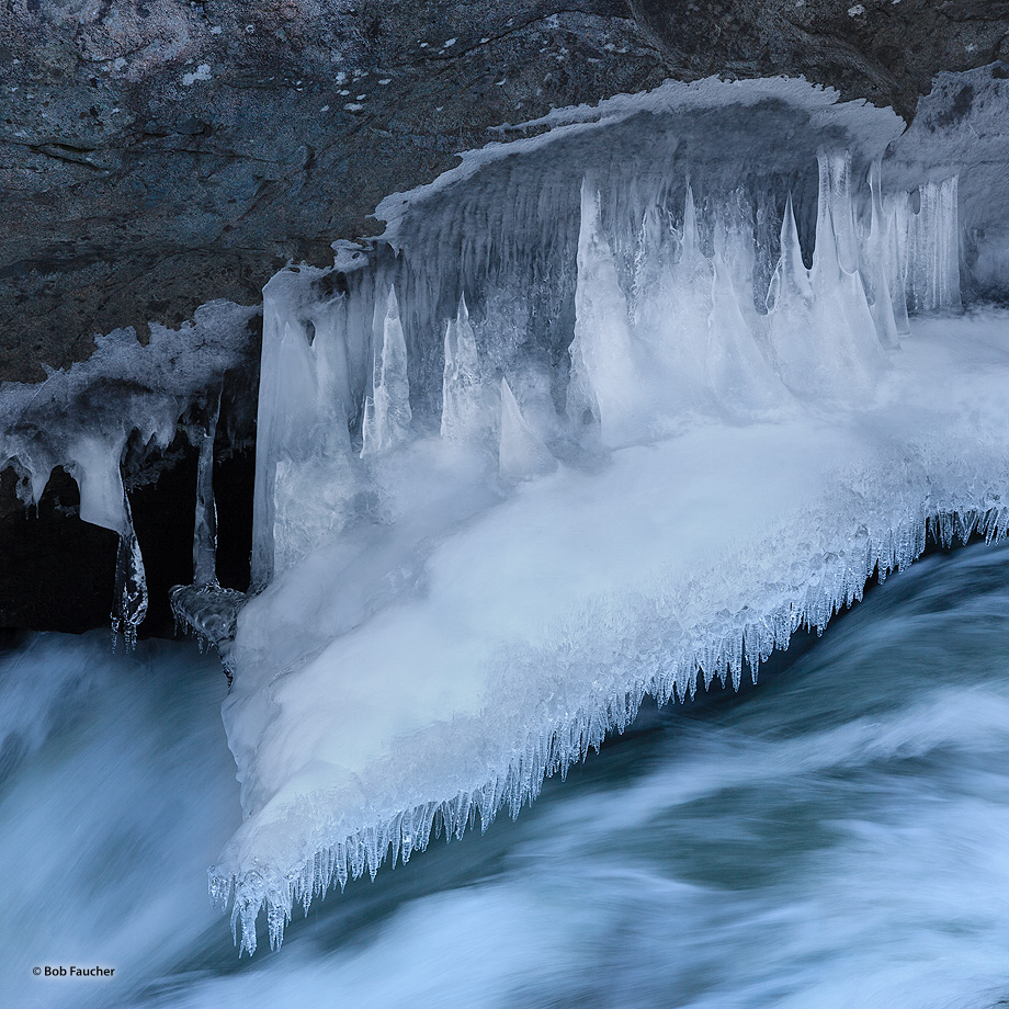 Icicle River,Icicles,ice stalagmites,ice shelf, photo