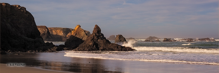 Jug Handle SR,sea stacks,headlands,morning, photo
