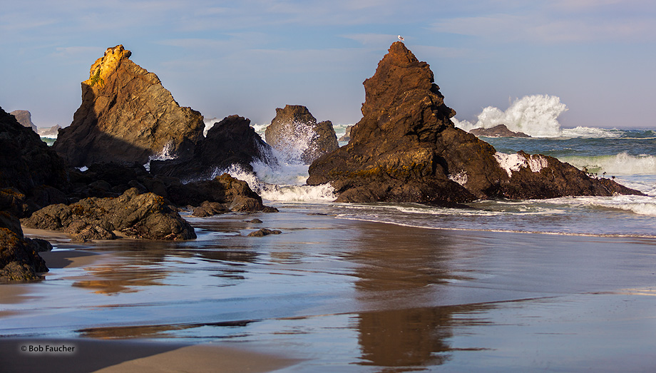 Jug Handle SR,surf,sea stacks, photo