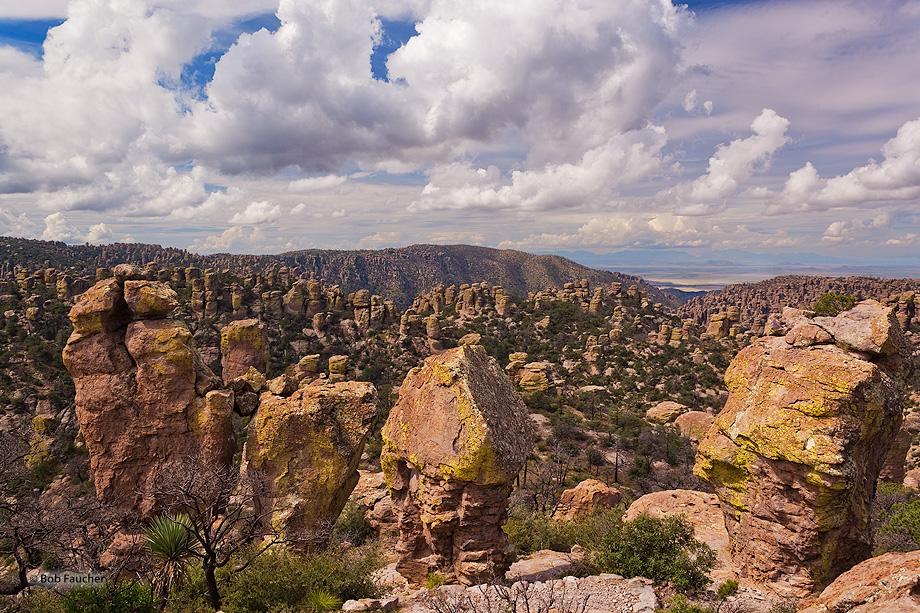 "The Chiricahua Apache called these pinnacles ""standing up rocks"""