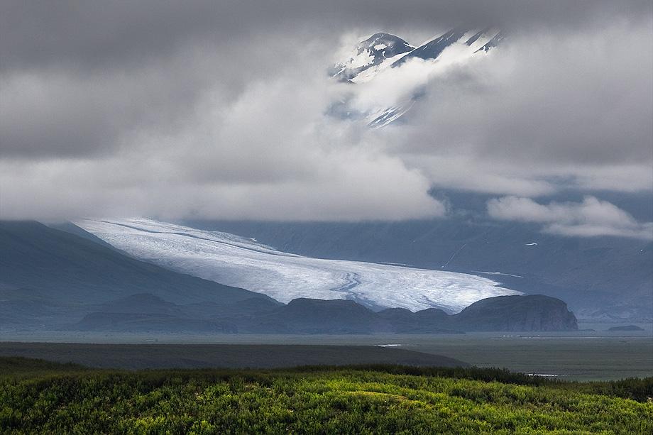 Denali Highway, mile 41, Maclaren River Valley, glacier, photo