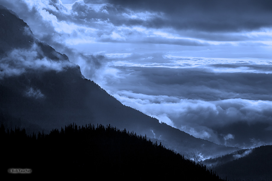 Hurricane Ridge, Olympic mountains, Olympic NP, fog, morning, clouds, layers, photo