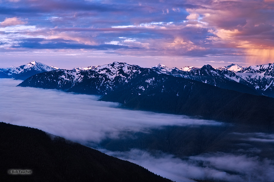 Hurricane Ridge,Olympic mountains,Olympic NP,squall,dawn, photo