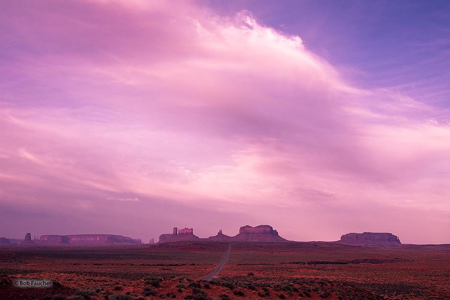 Monument Valley,sunrise,clouds, photo