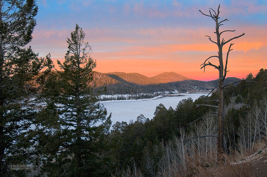 ice,snow,Navajo Lake,Utah,sunrise, photo