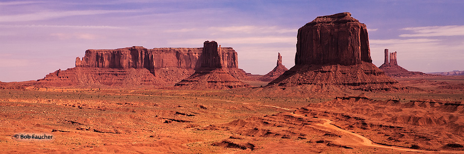 Monument Valley,morning,Merrick Butte,Big Indian,Castle Butte,Sentinel Mesa,West Mitten, photo