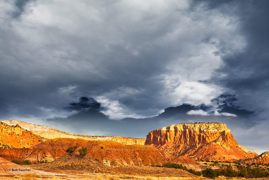 Orphan Mesa,Ghost Ranch,Abiquiu,New Mexico,clouds, photo
