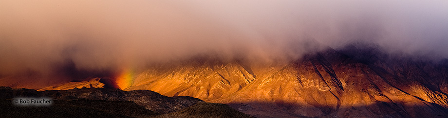 Owens Valley,morning,rainbow,clouds, photo