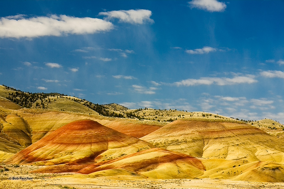Painted Hills,clouds,bentonite,sunrise, photo