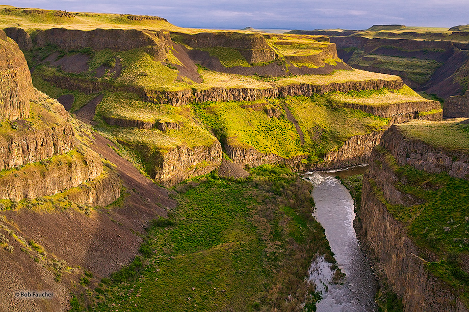 The Palouse Falls and the canyon downstream comprise an important feature of the channeled scablands created by the great Missoula...
