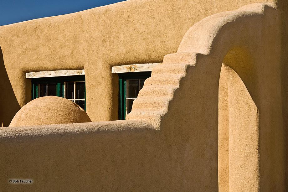 New Mexico,Los Luceros,archway,garage, photo