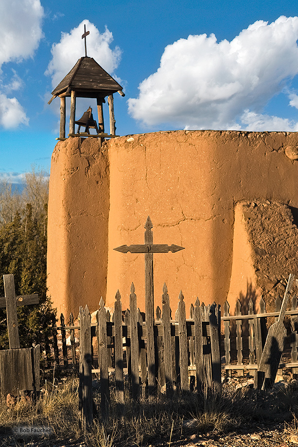 On a hill overlooking El Rancho de Las Golondrinas is a reproduction of a morada (meeting house) of the penitentes, a brotherhood...