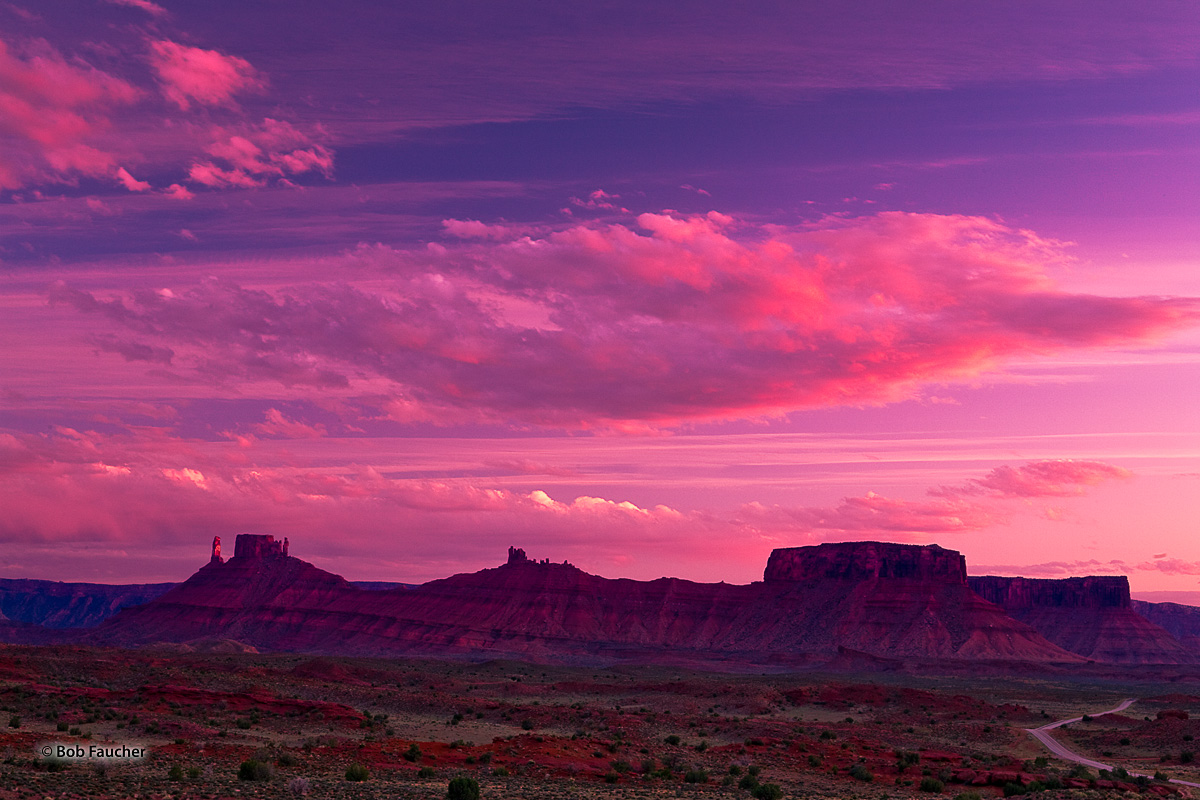 Moab, Priest and Nuns, sunset, clouds, photo