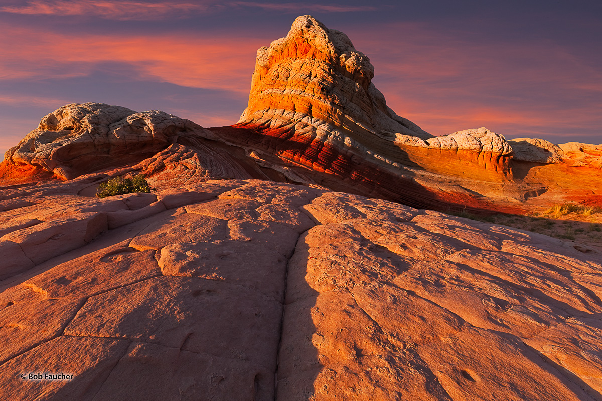 Lollipop Rock shows it colors in afternoon light