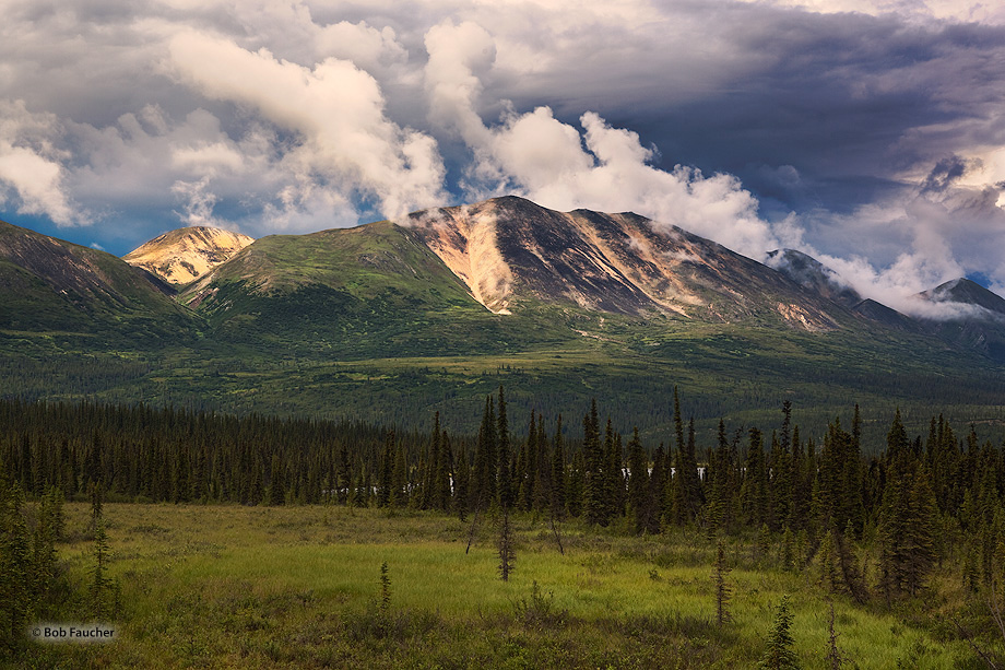 striped hills,Denali Hiway,mile 120,Alaska, photo