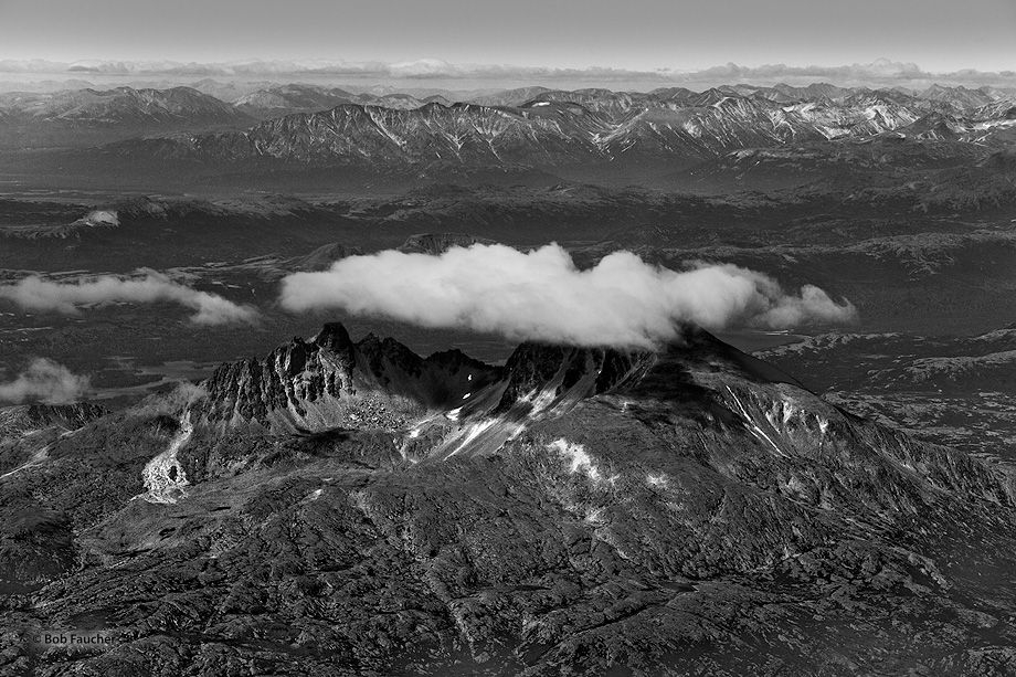 Katmai NP,Moraine Creek,dormant volcano, photo