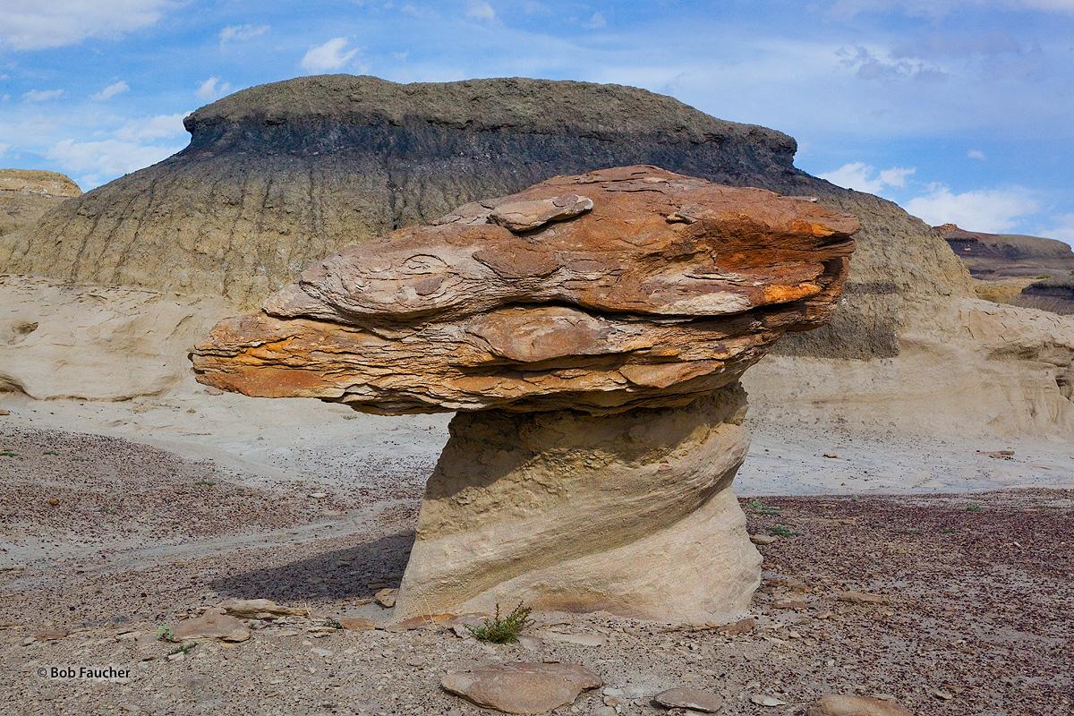 Bisti Badlands, hoodoo, mushroom shape, photo