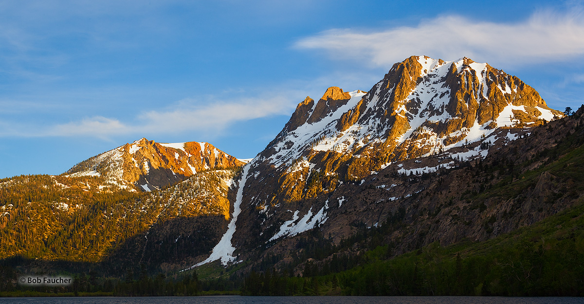 June Lake Loop, Silver Lake, Carson Peak, Alpenglow, photo