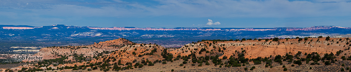 The Pink Cliffs of the Paunsaugunt Plateau, the top of the Grand Staircase, as seen from Slickrock Bench, includes the 11-mile...