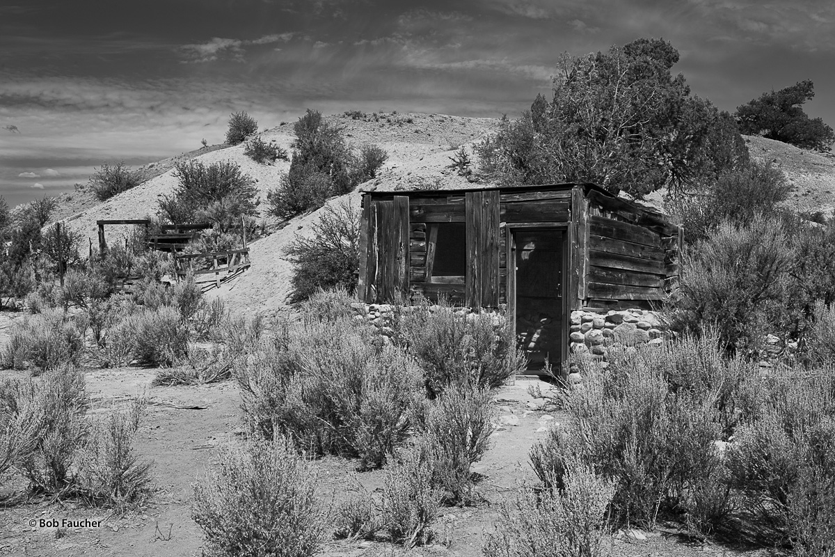 This cowboy's cabin has fallen into disrepair following the last cattle drive. One can only speculate what life as a cowboy was...