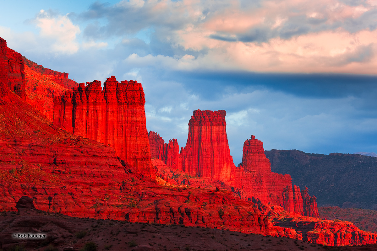 In the entire Colorado Plateau, you would be hard pressed to find a spot more vibrant than this one at sunset, when the dark...