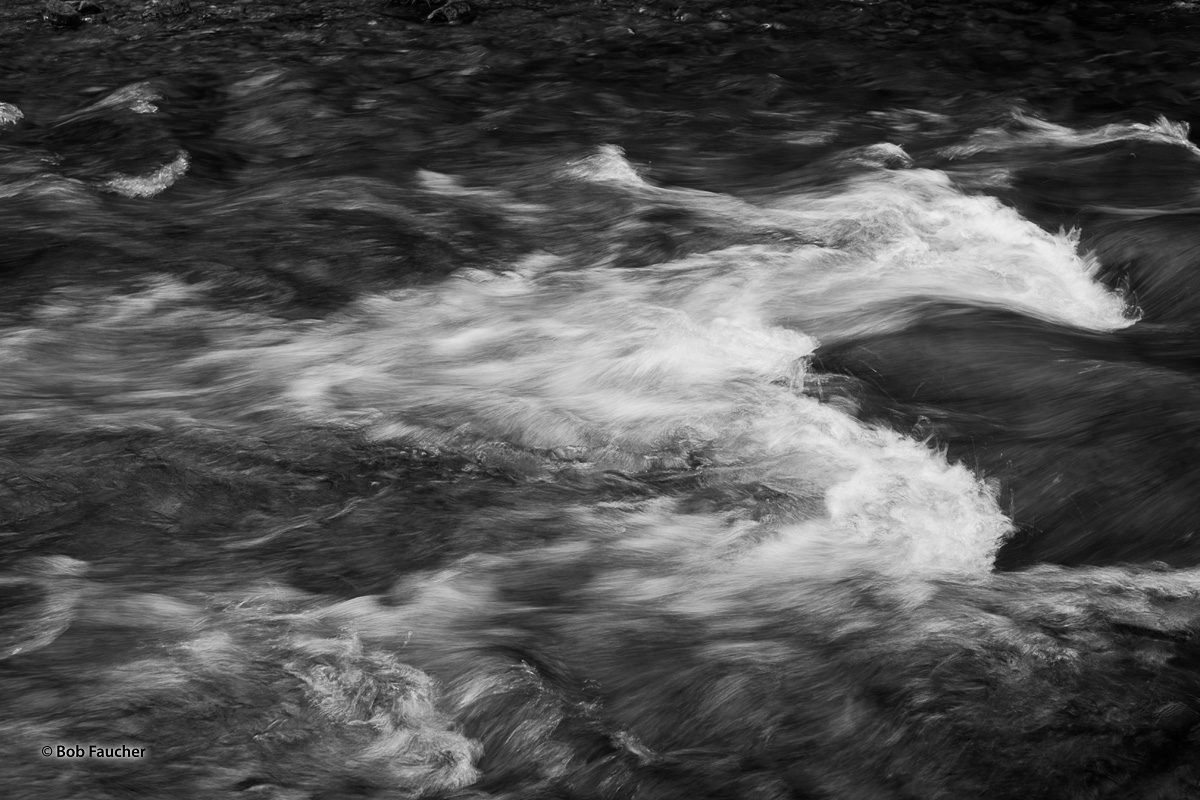Dizzying patterns of rapids in the San Juaquin River within Devil's Postpile NM