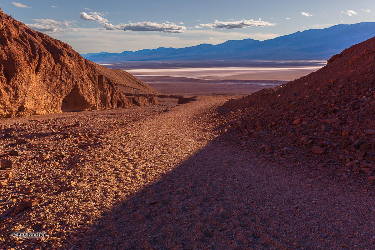 The Natural Bridge trailhead is near Devil's Golf Course in the Badwater Basin.