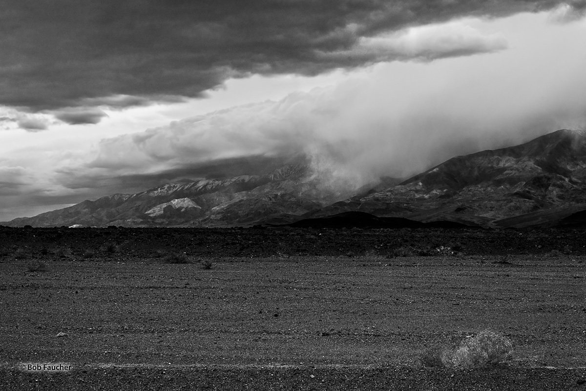 This section of the Panamint Range, opposite the entrance to the Artist's Palette Road in Death Valley, captured some low clouds...
