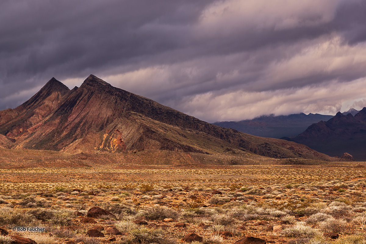 On Jubilee Pass Road, the southeast exit from Death Valley to Shoshone, I encountered these sharply pointed hills near Salsberry...