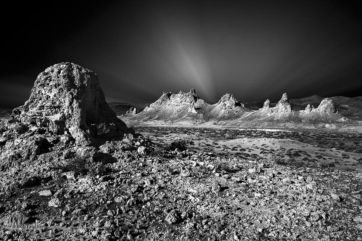 Trona Pinnacles, tufa, dawn, photo