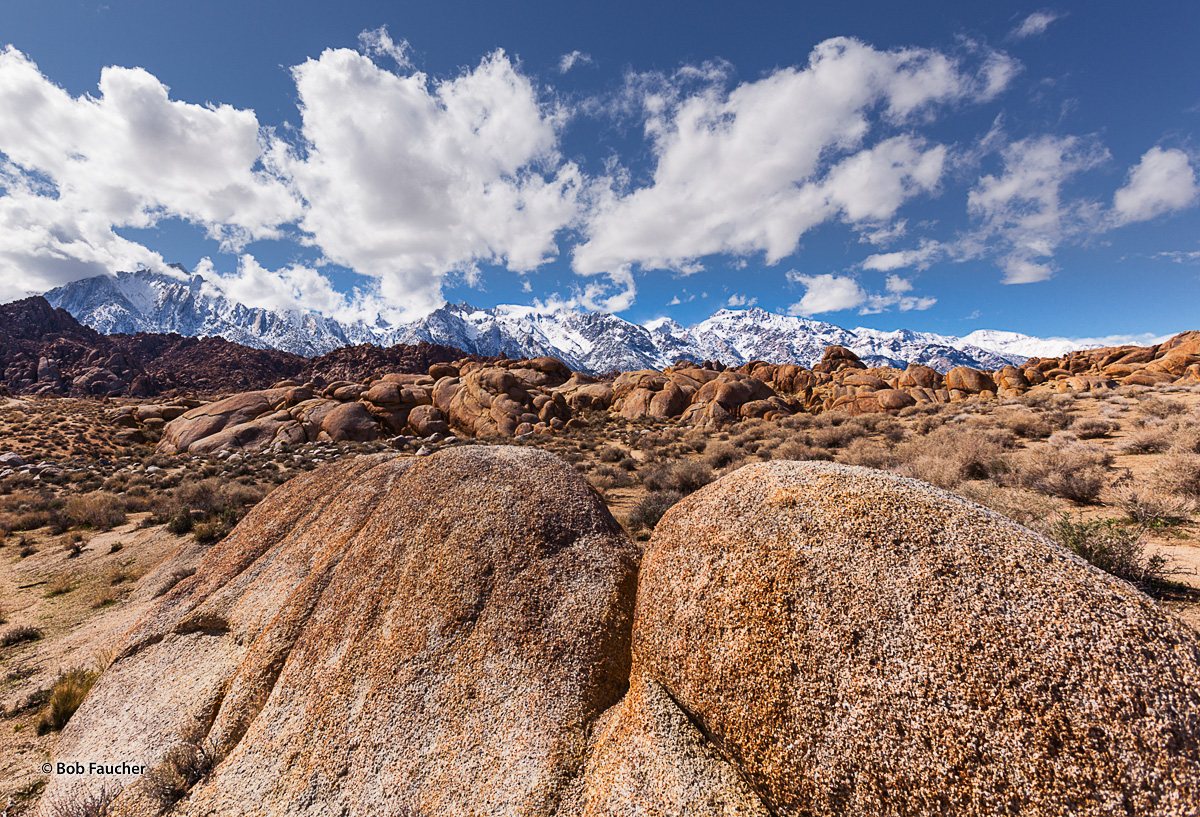 The Alabama Hills are a range of hills and rock formations near the eastern slope of the Sierra Nevada in the Owens Valley, west...