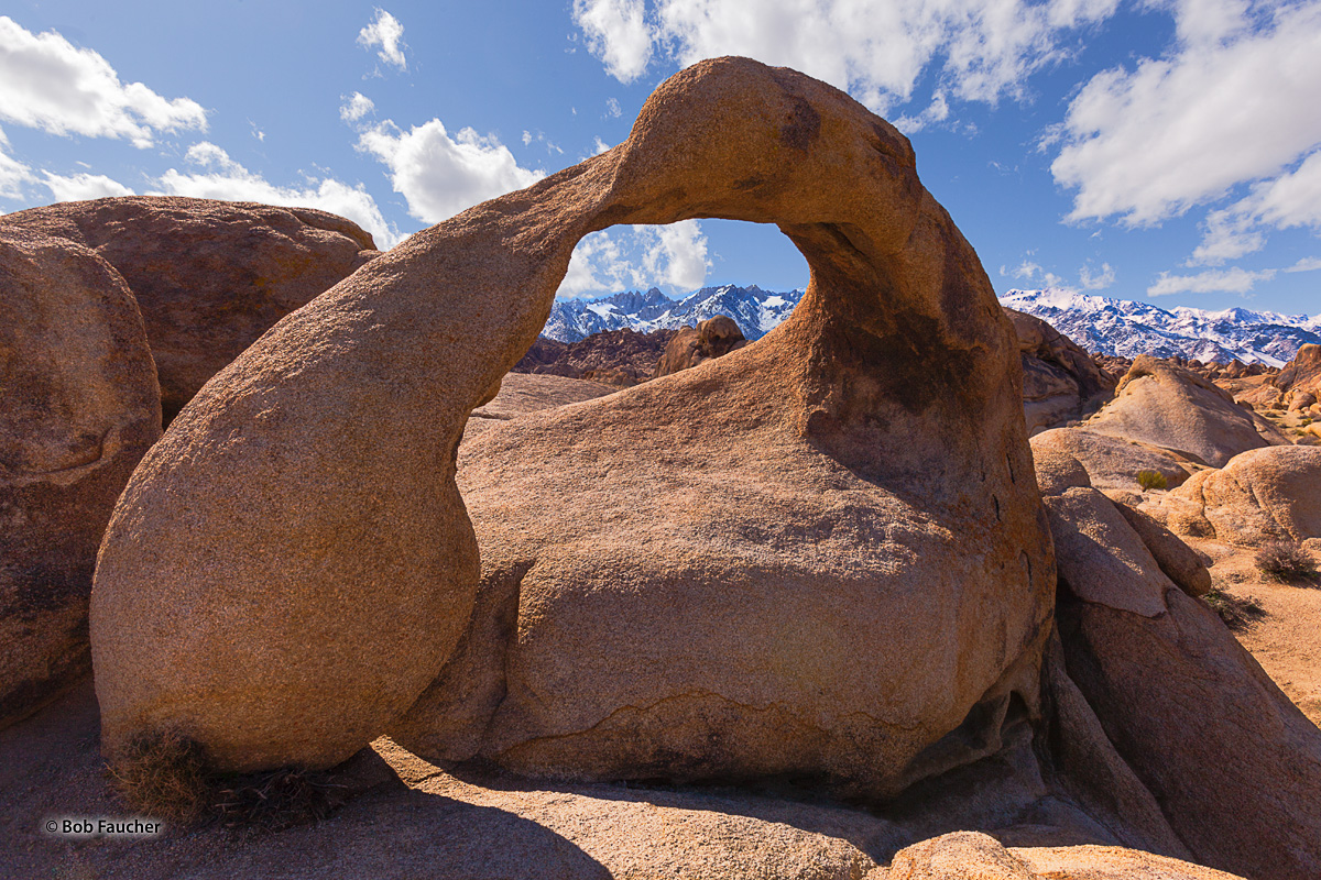 A favorite subject of photographers and filmmakers, the Alabama Hills Natural Arch, also known as Mobius Arch, perfectly frames...
