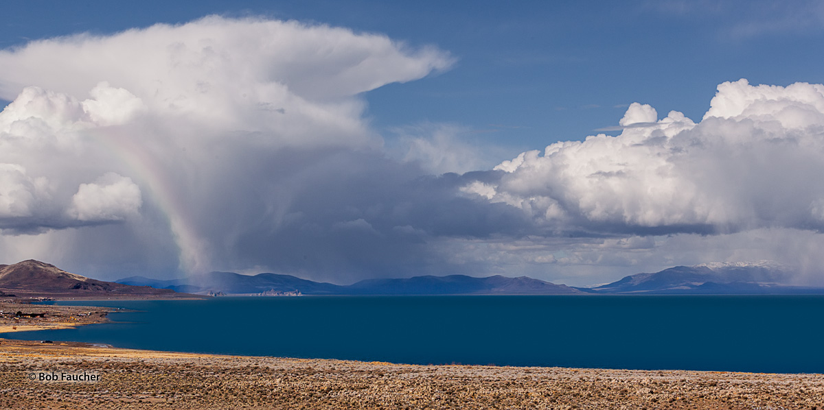 At the North end of Pyramid Lake the storm I had been chasing lingered over Enchanted Beach and Wizard's Cove. with the Needles...