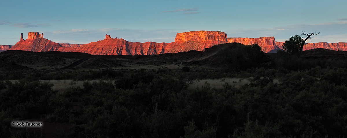 The ridge forming the eastern boundary of Castle Valley catches early morning sunlight along its entire 3.5 mile length. The...