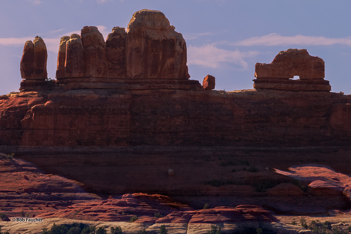 Needles district, Canyonlands NP, Wooden Shoe Arch, Squaw Canyon, morning, photo