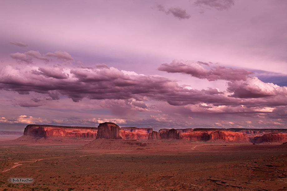 Monument Valley,Rain god mesa,evening, photo