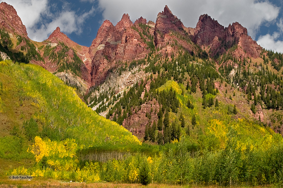 Although its more famous neighbors garner most of the attention, this rugged peak, with changing aspens covering its base, presents...