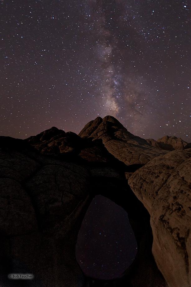 White Pocket,Paria Plateau,Milky Way, photo