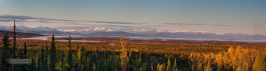 St. Elias Range,sunrise,Alaskan Hiway,Alaska, photo