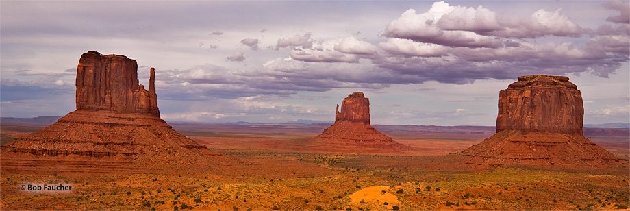 Monument Valley,Mitten Buttes,Merrick Butte,evening, photo