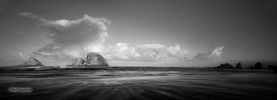 Oregon,coast,Oceanside,sunrise,sea stack,clouds, photo