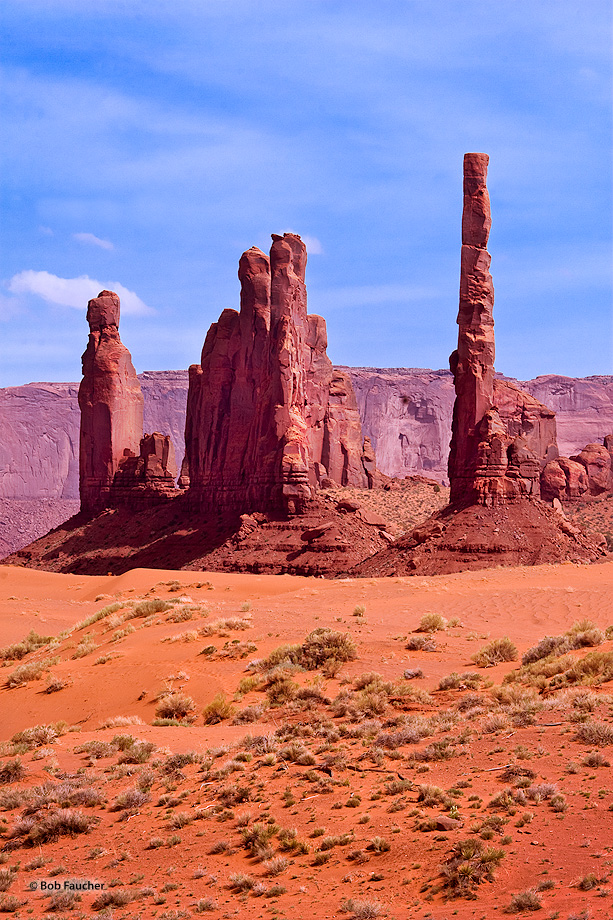 The Totem Pole is a pillar or rock spire found in Monument Valley. It is the highly eroded remains of a butte. Yei Bi Chei are...