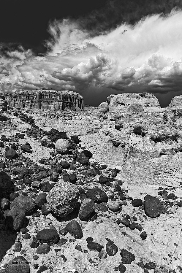 Plaza Blanca,Abiquiu,clouds,boulders, photo